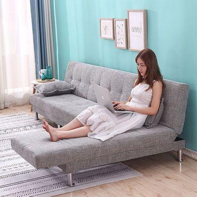 布艺折叠沙发床两用双人卧室多功能小户型客厅沙发组合家具出租房主图