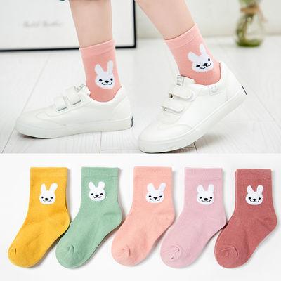 【特价5双装】儿童袜子春秋冬款男童女童中筒袜小孩宝宝袜学生袜