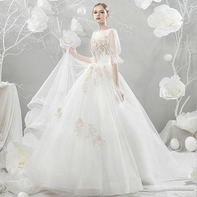 新款爆款婚纱礼服2019新款春季拖尾韩版公主梦幻显瘦森系旅拍新娘
