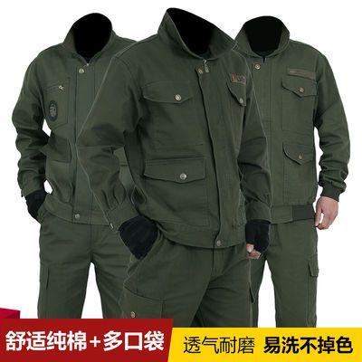 冬季加绒工作服套装男迷彩服电焊厂服加厚保暖汽修工装劳保服