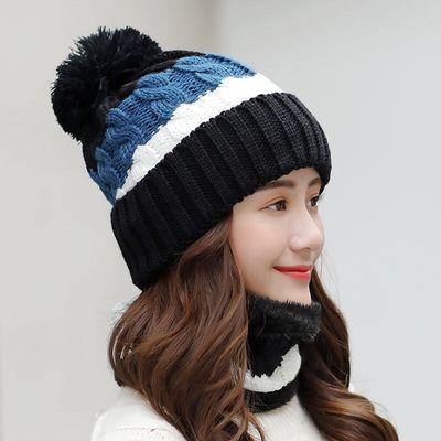 猫耳朵毛线帽子女秋冬ins针织帽冬天保暖百搭网红兔耳朵套头帽潮