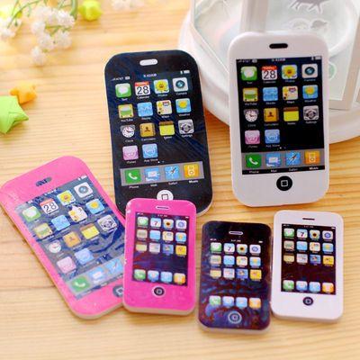 橡皮擦卡通可爱 iphone苹果手机韩版创意像皮小学生用品小奖品