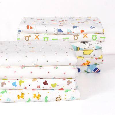纯棉宝宝针织布料 精梳卡通秋衣裤布料 婴儿服装包被床单A类面料