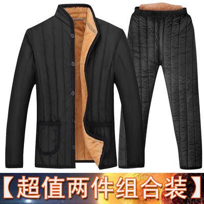 中老年秋冬男士爸爸装棉衣厚款40加绒棉袄50老人男装60岁爷爷外套