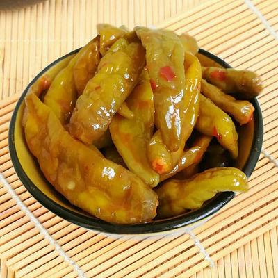 【五香辣椒108g/3袋】山东特产腌制辣椒酱腌菜香辣海带丝下饭菜