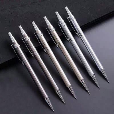 2b铅笔芯考试专用金属按动自动铅笔0.7/0.5笔芯橡皮擦套装小学生