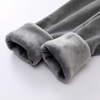 针织毛线打底裤女秋冬内外穿加绒加厚无缝棉裤保暖九分小脚长裤子