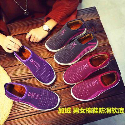 老北京布鞋女老太太鞋子奶奶鞋冬天棉鞋防滑软底二棉鞋加绒保暖鞋