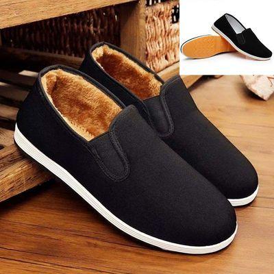 帆布鞋男士老北京布鞋男棉鞋冬季二棉男鞋保暖加绒透气防滑牛筋底