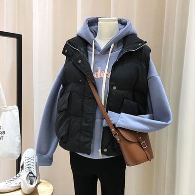 棉马甲女2019冬季新款加肥加大码女装胖妹妹200斤中长款马夹外套