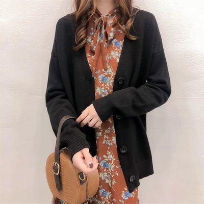 韩国东大门毛衣女开衫潮 2018新款女装时尚显瘦V领针织衫大码【3月8日发完】