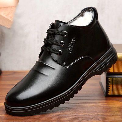 棉鞋男冬季男鞋加绒加厚保暖软皮绒毛男士棉皮鞋冬天鞋子高帮冬鞋