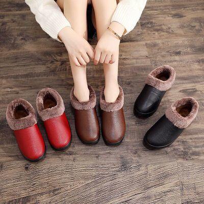 老北京布鞋冬季保暖棉鞋女士防水加绒短靴防滑加厚平底妈妈鞋棉新