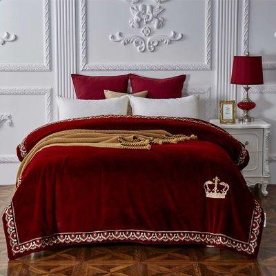 奢华帕拉图云毯云貂绒毛毯婚庆毛毯子冬季双层加厚拉舍尔双人盖毯