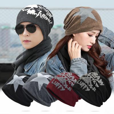 帽子男士冬天韩版套头帽青年棉包头帽保暖加绒女睡帽百搭潮堆堆帽