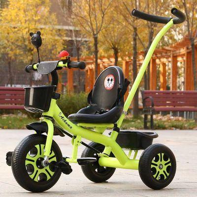 儿童三轮车脚踏车童车宝宝手推车带推把自行车1-3-6岁单车玩具车