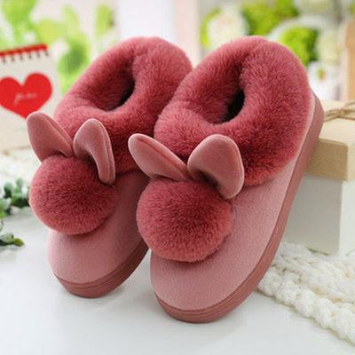 亲子棉拖鞋女冬包跟室内可爱居家用厚底毛绒家居月子加绒棉鞋冬天