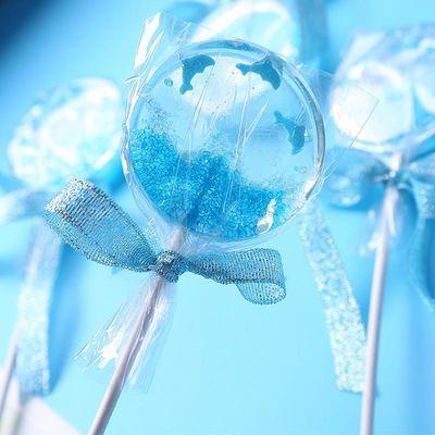 高颜值网红创意海洋棒棒糖水晶生日礼物零食可爱星空圣诞节糖果