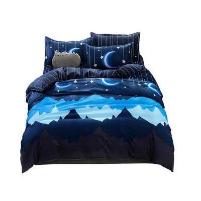 粉色公主风学生寝室单人床上用品卡通三件套0.9米双人简约四件套