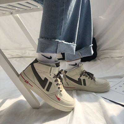 ins超火高帮板鞋新款一号韩版女鞋学生小白鞋低帮原宿百搭运动鞋