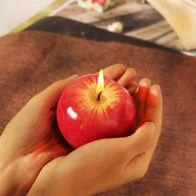 圣诞节礼物仿真红苹果蜡烛生日派对平安果蜡烛元旦节礼品活动赠品