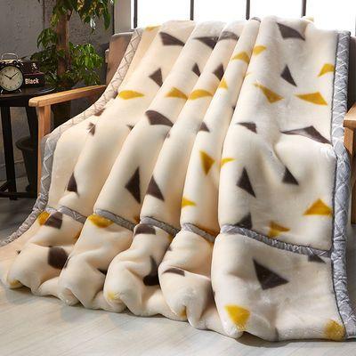 新款爆款【名莎家纺】冬季加厚双层拉舍尔毛毯单双人毯子保暖床单