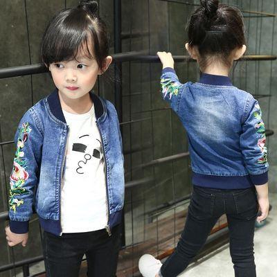 女童外套秋冬款加厚儿童上衣2019年新款韩版女宝宝加绒夹克中小童