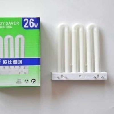 6W36W卫生间节能四针厨房管镇流器2灯3u排453U型三基色平针灯管