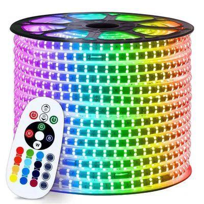 灯带LED三色变光吊顶灯带灯线灯带插头彩色灯带RGB七彩跑马灯灯条