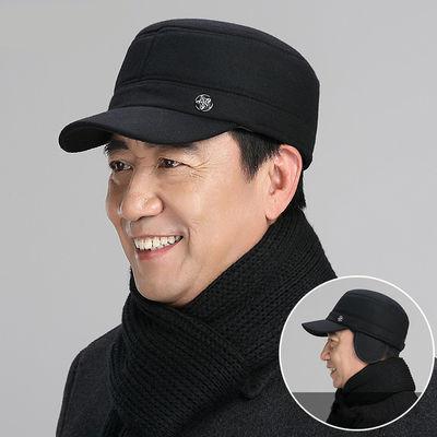 【帽子围巾】冬季老人帽子男中老年人老头棉帽中年保暖鸭舌帽
