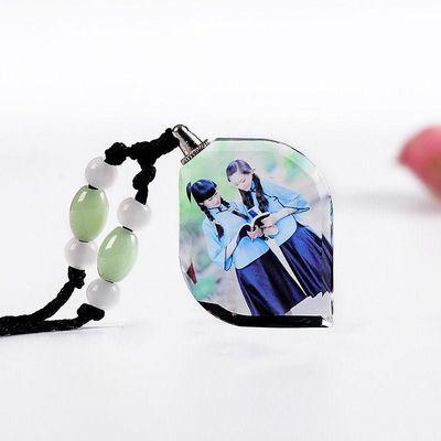 XT个性DIY照片定制水晶项链男女情侣相片吊坠生日创意礼物送女友