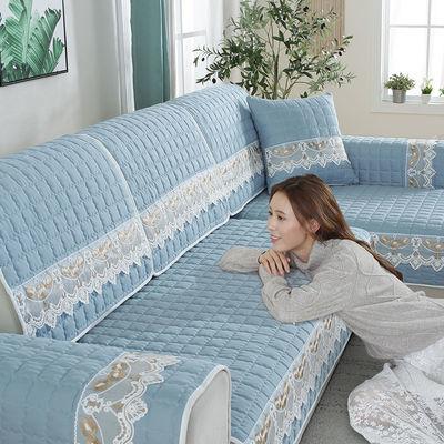 单件多尺寸毛绒沙发垫冬季沙发垫客厅沙发套沙发罩欧式沙发垫坐垫