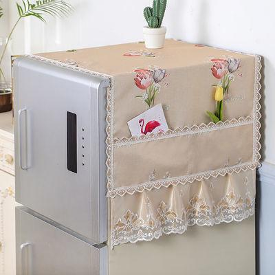 冰箱罩防尘罩单开门冰箱巾收纳袋万能盖巾双开门洗衣机防尘布盖布