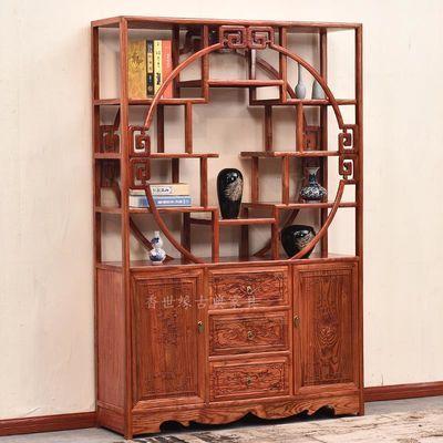 中式仿古博古架明清古典多宝阁全实木古董茶叶展示架古玩架展示架