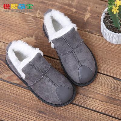 冬季男童棉鞋二棉鞋中大童儿童加绒加厚大棉保暖鞋防滑透气一脚蹬