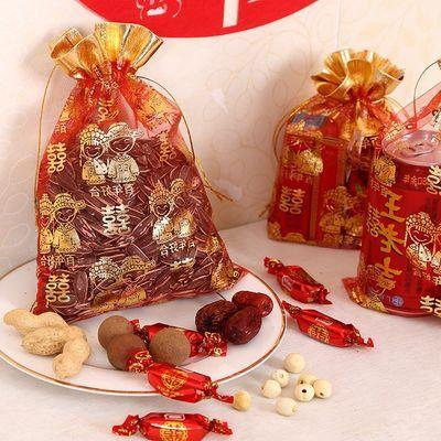 结婚喜糖袋喜糖袋子红色喜糖袋子创意百年好合回礼装糖的喜糖袋子