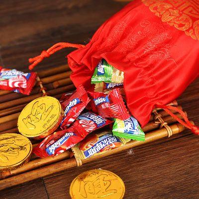结婚喜糖袋子创意喜糖盒锦缎糖果袋中国风手提糖袋婚庆用品回礼袋