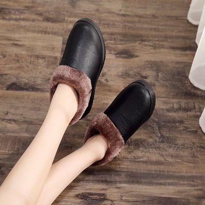 秋冬季韩版小黑鞋女平底小学生鞋工作鞋女生板鞋棉鞋子女鞋单鞋