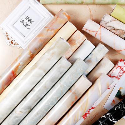 家具翻新橱柜灶台厨房贴纸防油耐高温大理石桌子桌面防水墙纸自粘