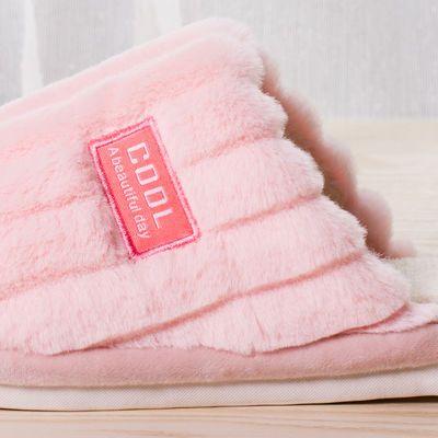 秋冬季棉拖鞋女家用防滑兔毛细软保暖舒适居家拖鞋情侣款棉拖鞋男