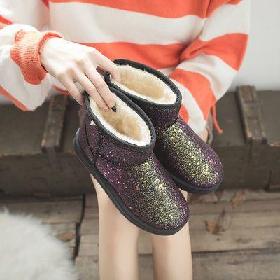 新款雪地靴女款软底短靴短筒防滑棉靴女防水加厚保暖鞋加绒雪地棉