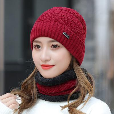 帽子女爆款多功能成人套头帽秋冬户外骑行时尚韩版保暖包头针织帽