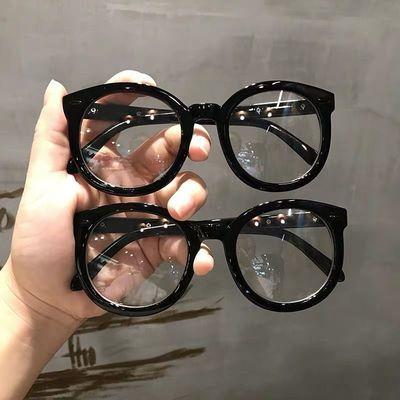 黑框眼镜女GM素颜大框变色防蓝光辐射黑粗框近视可配度数网红框架