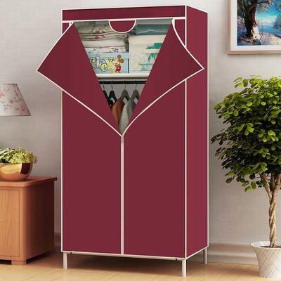 【破损免费补发】简易衣柜衣橱单人双人钢管加粗加固收纳柜布衣柜