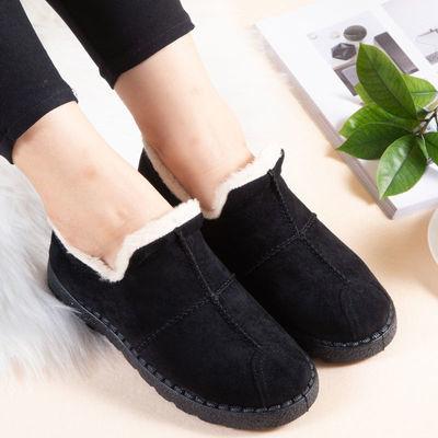 冬季棉鞋女士皮面加绒保暖旅游鞋防滑二棉高帮鞋雪地靴棉靴女短靴
