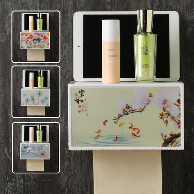 卫生间纸巾盒卫生纸抽卷纸壁挂式浴室家用厕所免打孔防水创意纸盒