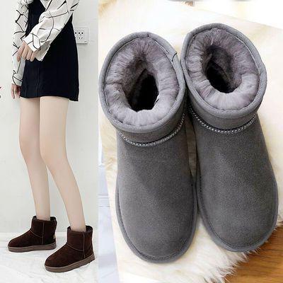 厚绒雪地靴女2019冬季新款保暖短筒厚底韩版学生百搭防滑短靴棉鞋