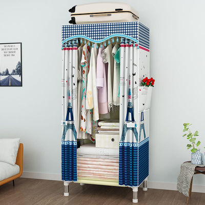 长60宽45高170cm简易布衣柜25MM钢管加粗加厚加固全钢架组装衣橱