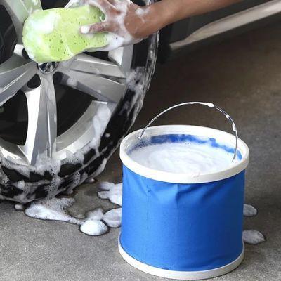 大容量汽车用折叠水桶大号收缩桶车载便携式擦洗车户外旅行钓鱼桶