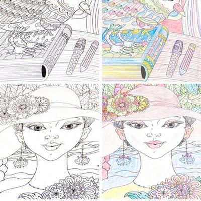 小女孩填色涂鸦画画书百变公主涂色本儿童神秘花园图画本绘画册